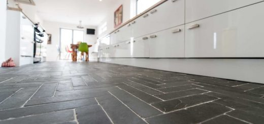 Slate floor from Ardosia Slate