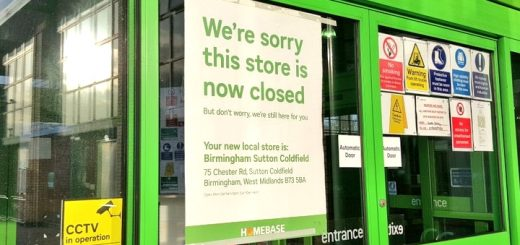 Closed down Homebase store. Photograph by Graham Soult