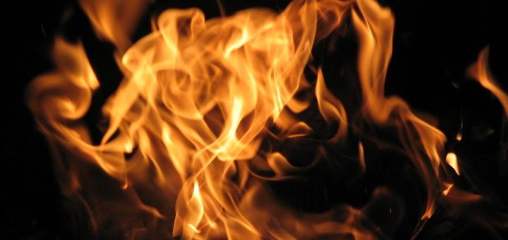 Flames. Photograph by Rick Cowan