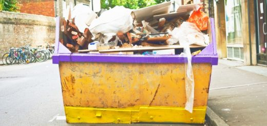 Waste skip. Photograph by Tom Gowanlock