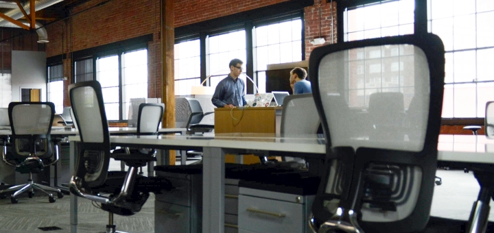 Modern office space. Photograph by StartupStockPhotos