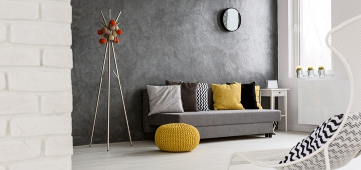 Shades of grey with pops of colour is set to be a popular look this winter