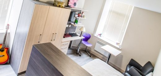 Room in a modern student property. Photo credit: Student Furniture