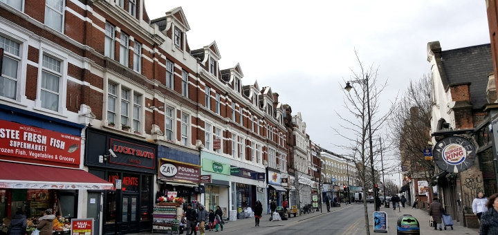 Commercial property in Harlesden, London. Photograph by Graham Soult