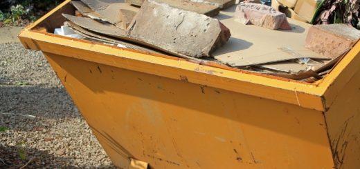 A skip outside a property. Photo credit: Enviro Waste