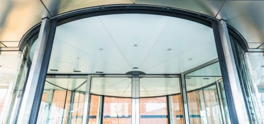 Glass revolving door. Photo credit: Advance Access