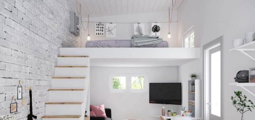 It is possible to create additional floorspace in a high-ceiling room. Photo credit: MADE.COM