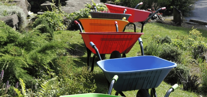 Haemmerlin Vibrante Go wheelbarrows from Garden Chic