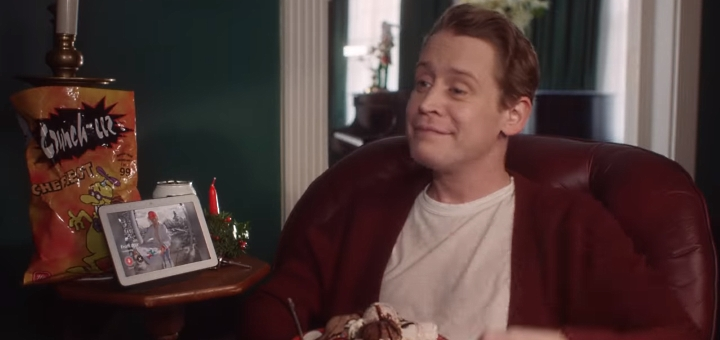 Screenshot from Home Alone Again Google ad. Credit: Google