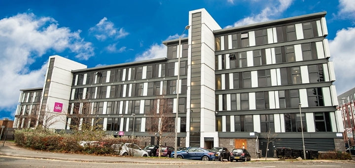 Purpose-built student accommodation in Liverpool. Photo credit: RW Invest