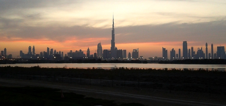 Dubai skyline with Burj Khalifa. Photograph by Rupak Chatterjee