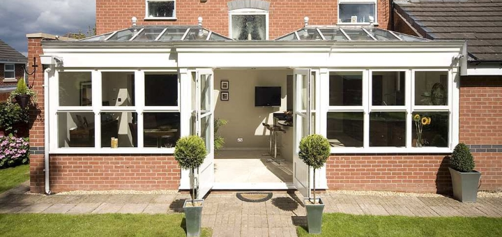 A modern orangery - like this one from Orangeries UK- can add value