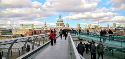 London Millennium Bridge - after its wobble was fixed. Photograph by Pablo Valerio