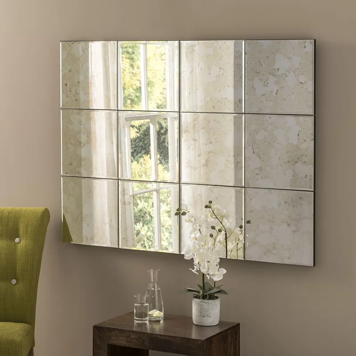 This Durgin Accent Mirror by Ebern Designs at Wayfair can give the impression of a window where a real window isn't possible