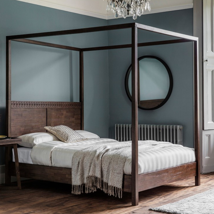 Boho Retreat Four Poster Bed at Homesdirect 365