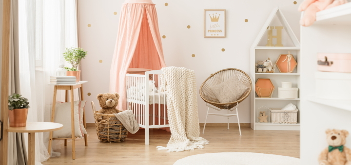 Creative colours and textures can help turn a nursery into a real sanctuary
