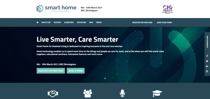 Smart Home Expo website