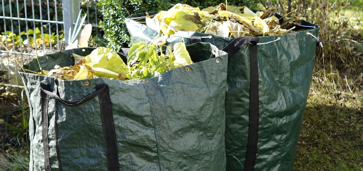 Garden waste like this is too bulky to go in a domestic bin