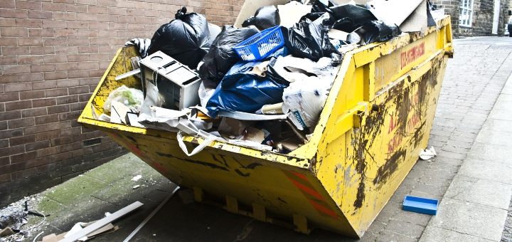 Using a skip hire company is one option for disposing of bulky waste. Photograph by Nathan Copley