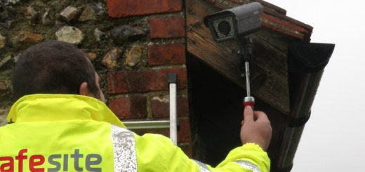 SafeSite Security Solutions installing a CCTV system