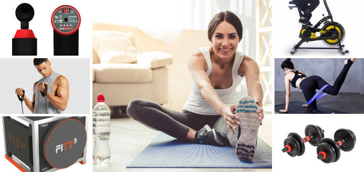 From a fitness mat to your own exercise bike, your home gym can be as simple or fancy as you choose